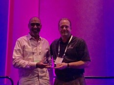 Ken Hawley VP Sales accepts NAILD 2017 Product Sprint award